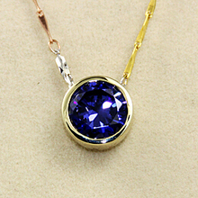 Fashion 3 Carat Tanzanite Simulated Diamond Pendant With 925 Sterling Silver The Same Style Of Taiwan Star