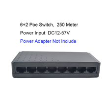 250 Meter network ethernet switches POE LAN 6 Port switch ethernet port RJ45 HUB Support IEEE 802.3af / AT(China)