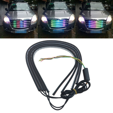 New Arrival Front Grille Bumper RGB Led Strip Light Flowing Type Box W/ Side Indicator Brake Diving DRL Streamer Stripe Lamp(China)