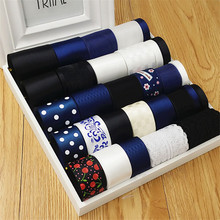New High quality Navy Blue 30 meter mixed 30 style stain/grosgrain /cotton lace ribbon Diy hairbows combination ribbon set(China)