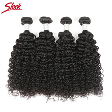 Sleek Raw Indian Curly Hair Extensions 4 Bundles Deal Jerry Curly Remy Human Hair Weave Bundles Of Hair Curly Weave Human Hair(China)