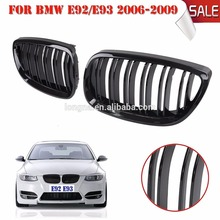 Factory Price Gloss Black Front Kidney Grilles Double Line Grille For BMW 2006-2009 E92 E93 Grille M3 2Door(China)