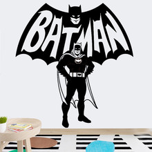 Batman Cartoon Art Wall Stickers for Kids Room Decor Car Stickers Home Decoration Accessories Creative Unique Gift for Boys(China)