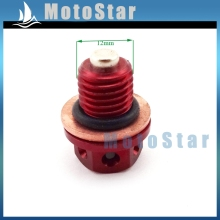 Red Oil Magnetic Drain Bolt Plug For Chinese Engine Lifan YX Zongshen Loncin Pit Dirt Bike 50cc 90cc 110 125cc 140cc 150cc 160cc(China)