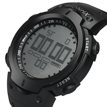 9s & cheap  Fashion Waterproof Men's Boy LCD Digital Stopwatch Date Rubber Sport Wrist Watch High quality watch   M 28  0717