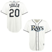 MLB Men's Tampa Bay Rays Steven Souza Jr. BaseballWhite Home Cool Base Player Jersey(China)