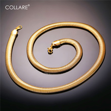 Buy Collare Stainless Steel Chain Men Necklace Gold/Black Color Necklace Snake Link Chain Necklace Men Jewelry N230 for $5.49 in AliExpress store