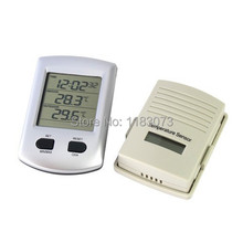 433MHz Wireless LCD Weather Station Digital Indoor Outdoor Home Garden Thermometer Clock Temperature Sensor & Box FreeShipping(China)