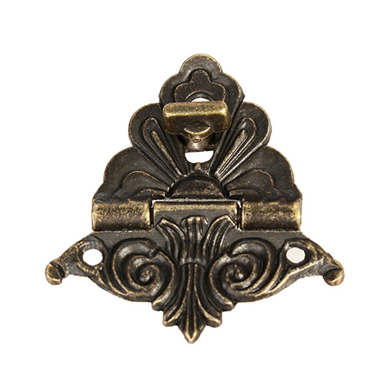 1pc Box Buckle Clasp Antique Buckle Alloy Buckle Box Wooden Wine Box Lock Craft Furniture Hardware 48x45mm