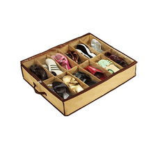 Home Decor Shoes Storage Case Shoe Finishing 12 Pairs Fabric Intake Organizer Holder Shoes Box BS