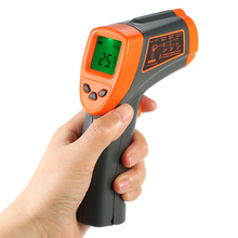-32-600C IR Infrared Thermometer 12:1 Non-contact Digital Temperature gauge LCD Pyrometer +Backlight C/F Adjustable Emissivity