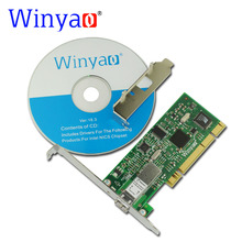 Winyao WY559FX PCI 32Bit 100FX SFF LC (1310nm  10KM) Desktop Fiber Ethernet Network Card Adapter -intel 82559 100Mbps NIC