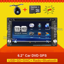 universal Car Radio 2 din Radio recorder GPS Navigation In dash Car PC Stereo Free Camera