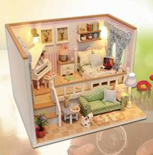 Miniature Doll House Model Building Kits Wooden Furniture Toys DIY dollhouse--because of 2018 New(China)