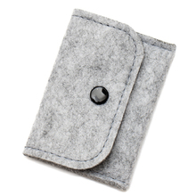 New Mini Storage Bag 2 Color Mini Felt Pouch For Coin Cards Portable Travel Organizer Electronic Accessories Organizador