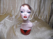 Earring Display Mannequin Head Vintage With Makeup
