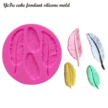 Feathers Lace chocolate DIY feather fondant cake decorating tools lace border silicone mold kitchen Baking accessories T0057
