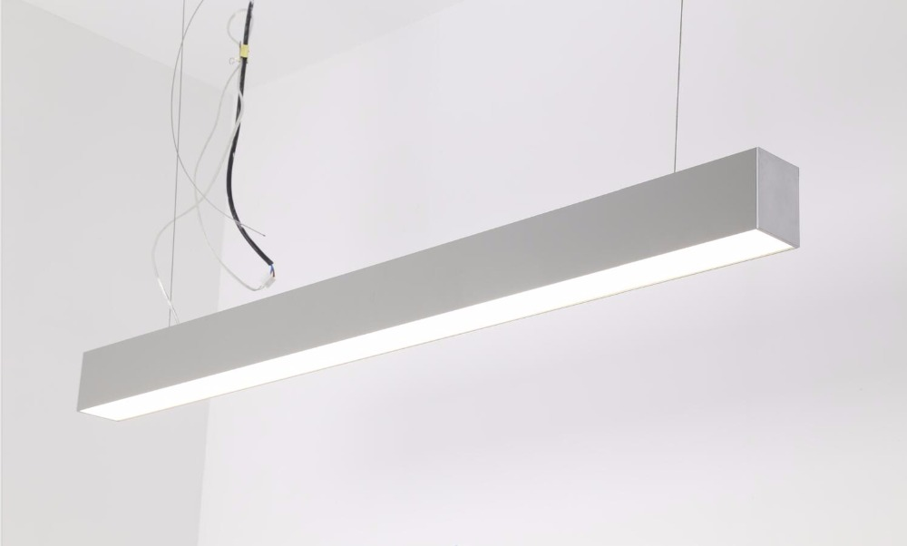 Free Shipping High Quality  led lights line selling tube 2ft 60cm 20w suspended trunking pendant led linear light fixture<br>