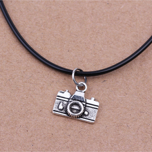 43+5cm Digital Camera Necklace Pendant Choker Retro Leather Cord Necklace Fashion Jewelry For Women Girl Gift