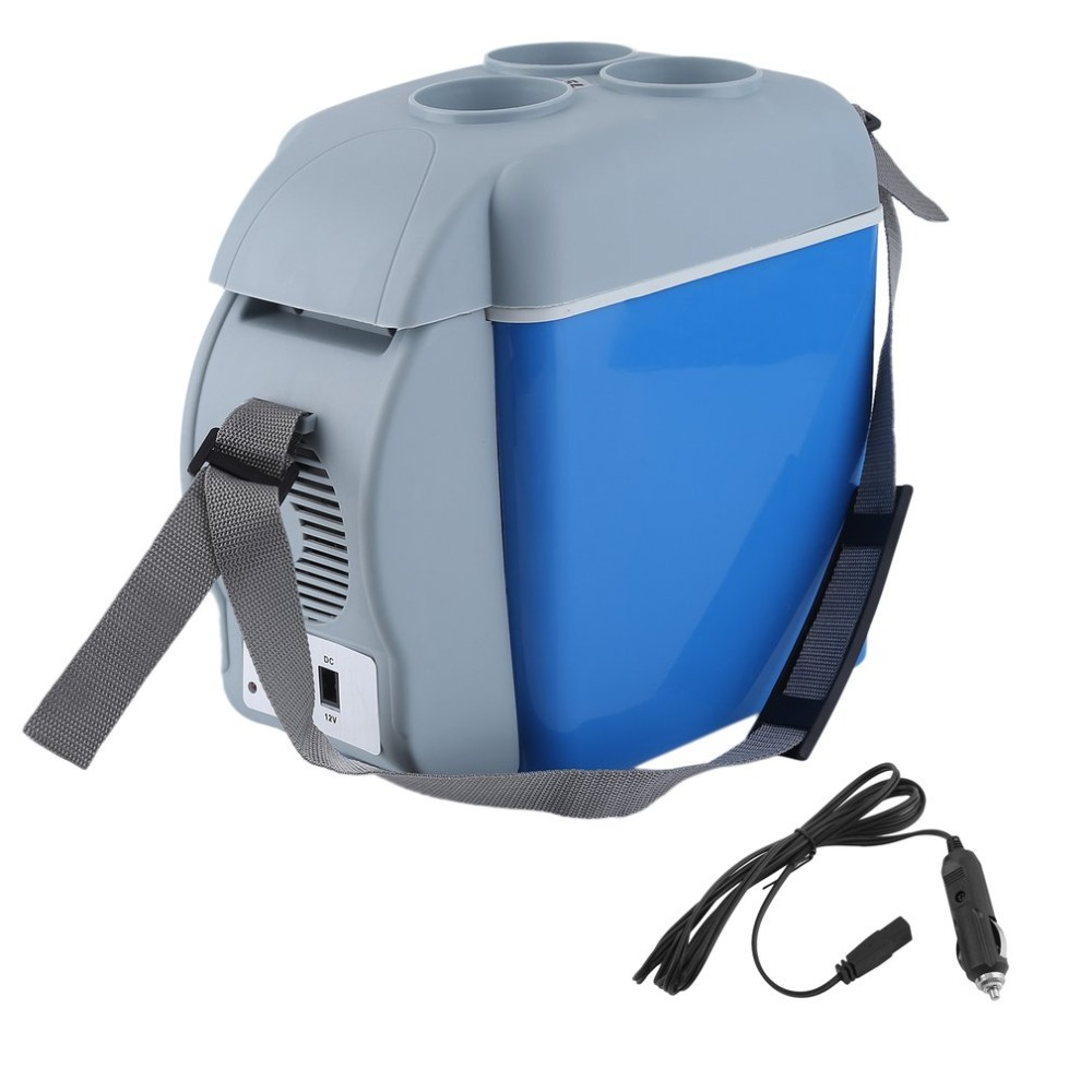 7.5 L Portable Large Capacity Car Refrigerator Cooler&amp;Warmer Heating Cooling 12V Electric Fridge Travel Ice Box With Strap <br>