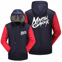 WISHOT Recommend 2017 Winter Mens Jackets And Coats Slim Printed Martin Garrix Rock Band Hoodies Plus velvet Thickening