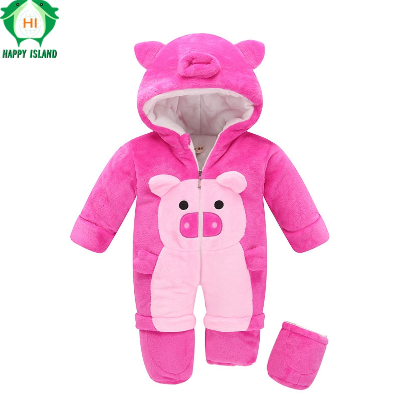 New High Quality Baby Rompers Winter Thick Cotton Boys Costume Girls Warm Clothes Kid Jumpsuit Children Outerwear Baby Wear<br>