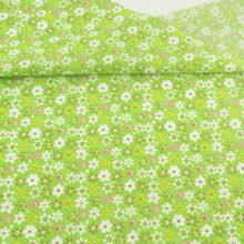 Green Printed Lovely Flowers Design Cotton Fabric Pre-cut Fat Quarter Patchwork for DIY Crafts Curtain Sewing Telas Tecido Tissu