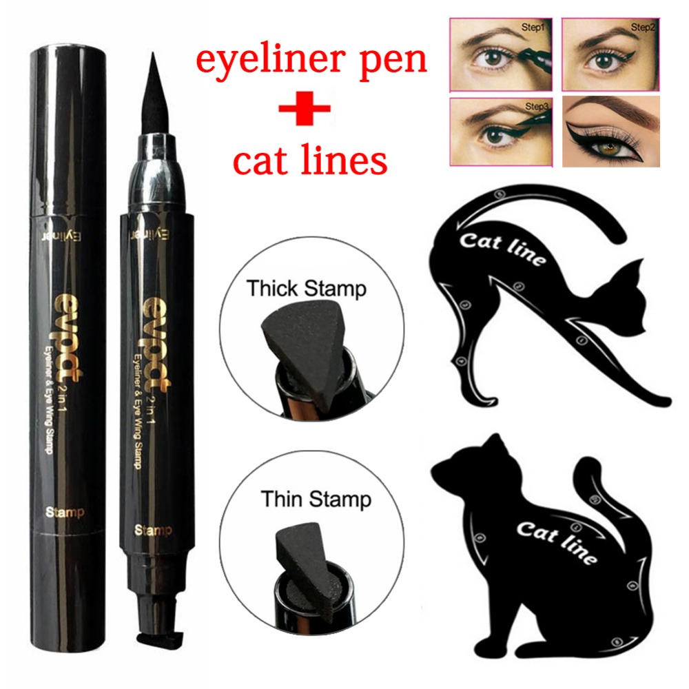 Beauty Essentials Manooby Hot Quick Dry Eye Liner Pencil Cosmetics Tool For Women Seal Liquid Black Eyeliner Waterproof Long-lasting Cosmetics