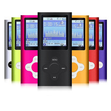 FGHGF slim 4th gen mp3 player 32GB 16GB 9 Colors for choose Music playing time 30Hours fm radio video player