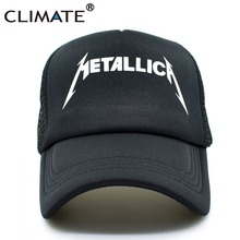 CLIMATE Metallica Metal Rock Band Summer Cool Mesh Caps 2017 Music Rock Fans Cool Summer Baseball Net Trucker Caps Hat(China)