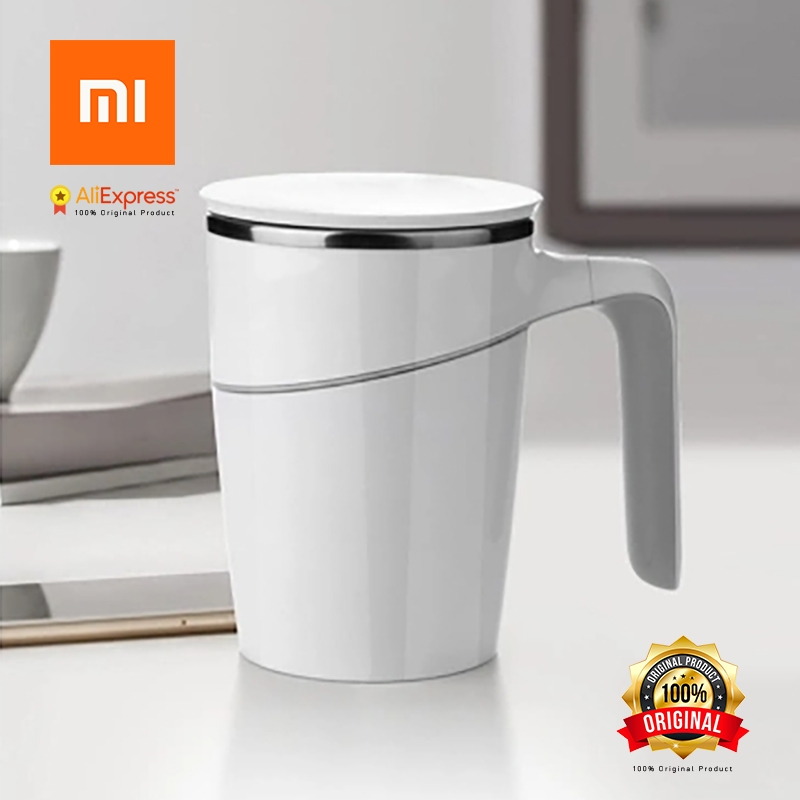 Xiaomi Original Fiu 470ml Elegant Non-fall Insulation Suction Cup Mug, White Innovation Magic Sucker Splash Proof Non-slip<br>