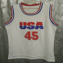 Donald Trump 45 USA Basketball Jersey 2016 Commemorative Edition White Cheap Throwback Jerseys Sleeveless Breathable Jersey