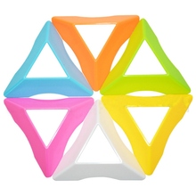 Candy Color Speed Magic Cube Base Holder Cube Stand Toys For Kids - Random Color(China)