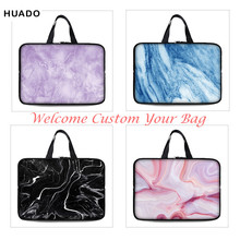 New marble laptop bag Sleeve Soft Neoprene 7 10 12 13 14 15 15.6 17 17.4 Inch Universal Tablet Bag Case Notebook Computer Cover