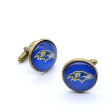 American football baltimore ravens Charms Cufflink Cuff Link 1Pair/retail  20Pair/50% Wholesale