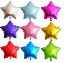 7pcs/lot 18'' five-pointed star shaped foil Balloons Helium Metallic pure color balloons Wedding birthday party decoration(China)