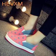 HEVXM 2017 New Spring Autumn Set Foot Shoes Women Thick Base Board Shoes Fashion Korean Version Flats Female Casual Shoes