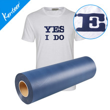 Q7 Kenteer 0.5*25m One Roll Flock Heat Transfer Vinyl For T-Shirt