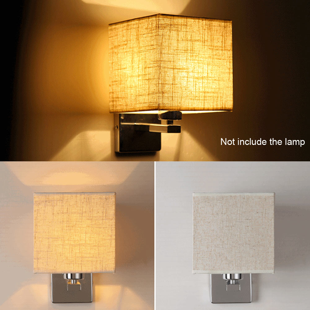 High Quality LED Cloth Wall Lamp Sconce Light for Hotel Reading Bedroom Bedside Lighting Flaxen/Black/White hallway<br>