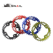 SNAIL 104BCD Oval Round 32T 34T 36T 38T Bicycle Chainring Narrow Wide Chainwheel MTB Bike Single Speed With Crankset Nut