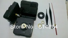 FREE SHIPPING 12mm clock mechanism kit 1piece, for all kinds of wall clock, with 3hands+rubber+screw+ring(China)