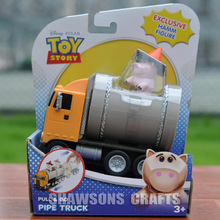 TOY STORY TOYS HAMM FIGURE THE PINK PIG PULL & GO PIPE TRUCK