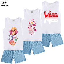DMDM PIG Boys Clothes Clothing Sets Child Summer Sports Costume For Girls Baby Clothes Children's Sports Suits Kids Clothes Sets