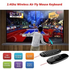 C120 gaming keyboard Air Mouse Remote Controller with USB Receiver Mini Wireless 2.4GHz teclado inalambrico Smart Tv keyboard PC(China)