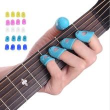Antislip Breathable Finger Stall Guitar Practice Prevent Pain Protect Fingers Soft Set For Beginners Guitar Tool V529(China)