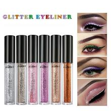 Popfeel 1Pcs Liquid Eyeshadow Shiny Diamond Contour Glitter Long-lasting Bling Eye Shadow Powder 12 Colors T30(China)