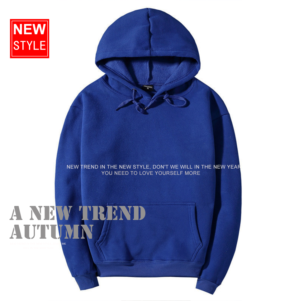 17 fashion color orange hooides men's thick clothes winter sweatshirts men Hip Hop Streetwear solid fleece hoody man Clothing 1