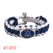 Xavier Musketeers Custom Paracord Bracelet NCAA College Football Charm Bracelet Survival Bracelet, Drop Shipping! 6Pcs/lot!