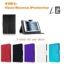 "For Huawei MediaPad X2/Ideos S7 Slim Tablet 7"" Inch Universal Tablet PU Leather cover case 2 Free Gift"