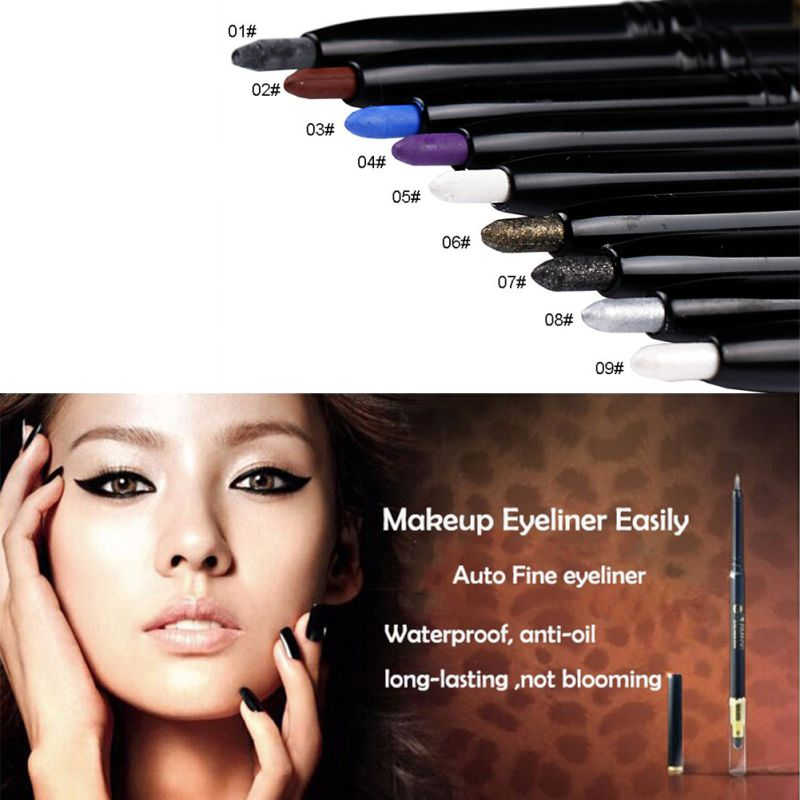 Eye Liner Pencil Long Lasting Waterproof Smudge-proof Face Makeup Eyeliner Pen J2(China (Mainland))